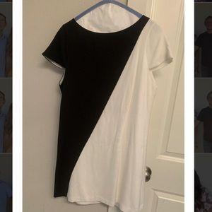 Alice + Olivia Black and White Dress